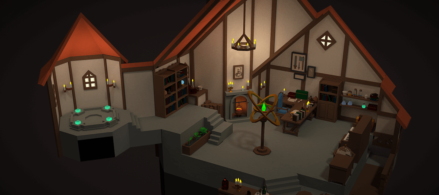 The Great Sorcerer's Room, 3D Model